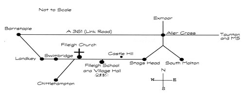 Map to Village Hall